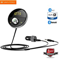 Vantro Bluetooth Receiver and Transmitter 4.2 Hands-free Kit for Car