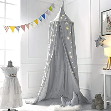 Baldachin Kinderzimmer 240cm Kinder Bett Kuppel Baumwoll Betthimmel