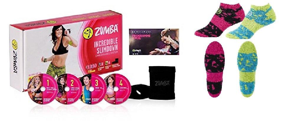 Zumba Incredible Slim Down con 4 DVD + Socks 2 Set, Dogo/Menú + stülper + Nutrición Plan: Amazon.es: Deportes y aire libre