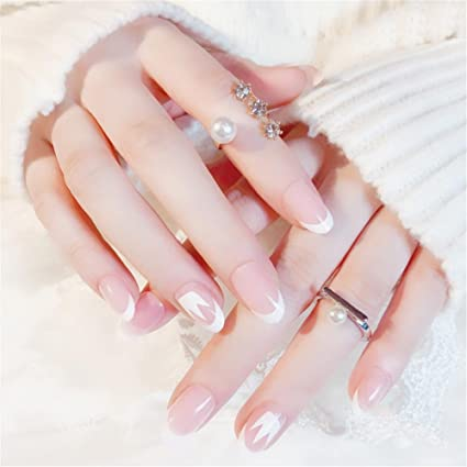 Nail Art Tip & Glue Artificial False Nails Perfect Length Pure Color Full Cover Beauty Art