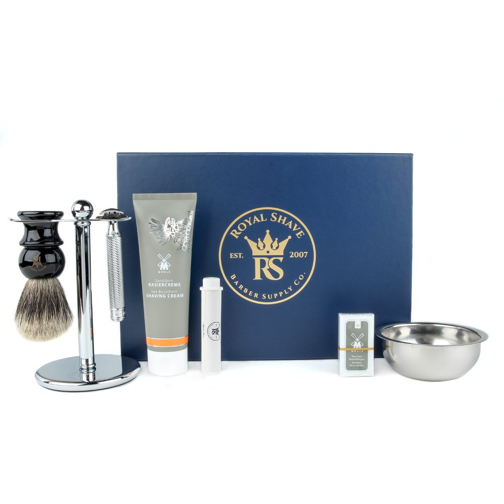 Muhle R89 7 Piece Safety Razor Shaving Set (Sea Buck.)