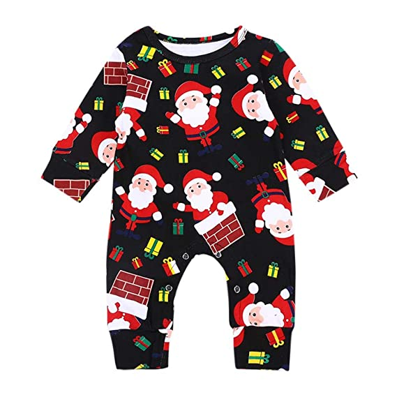 3be73538f Innersetting Baby Autumn Long Sleeve Jumpsuits Boy Girl Christmas Rompers  Outfit (6-9M