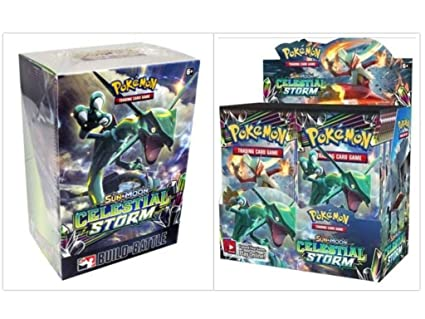 Amazon.com: Pokémon TCG Sun & Moon Celestial Storm Booster ...