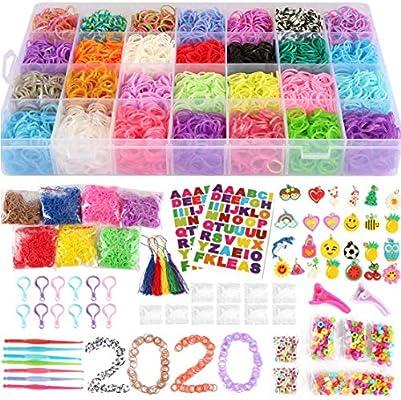 11680 Rainbow Rubber Bands Mega Refill Bracelet Making Kit Loom Bands Large