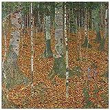 ArtPlaza TW90242 Klimt Gustav - Birch Forest Decorative Panel 15.5x15.5 Inch Multicolored