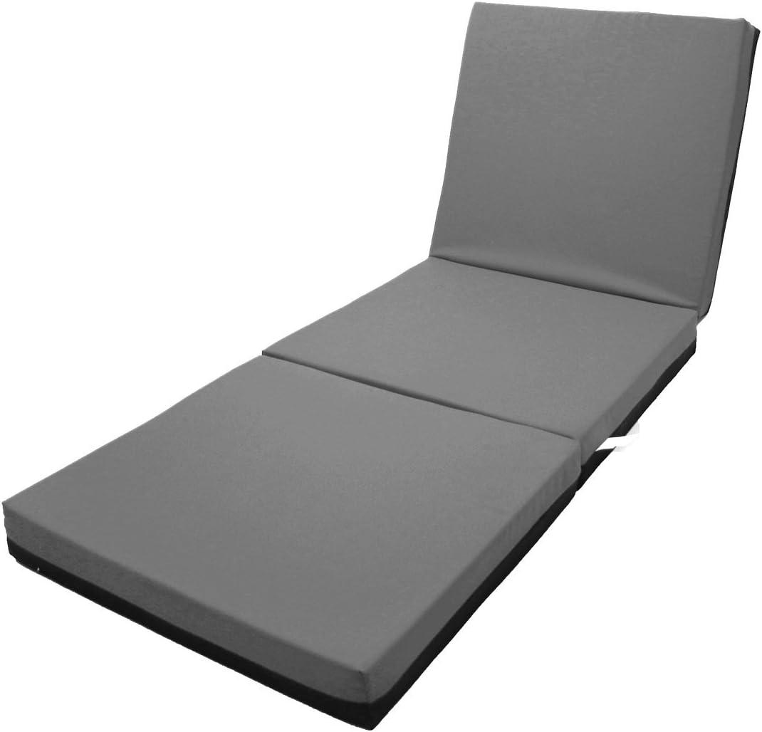 Magshion Memory Foam Trifold Folding Mattress Floor Bed 4 Inches – Single, Twin, Full, Queen Full, Dark Grey