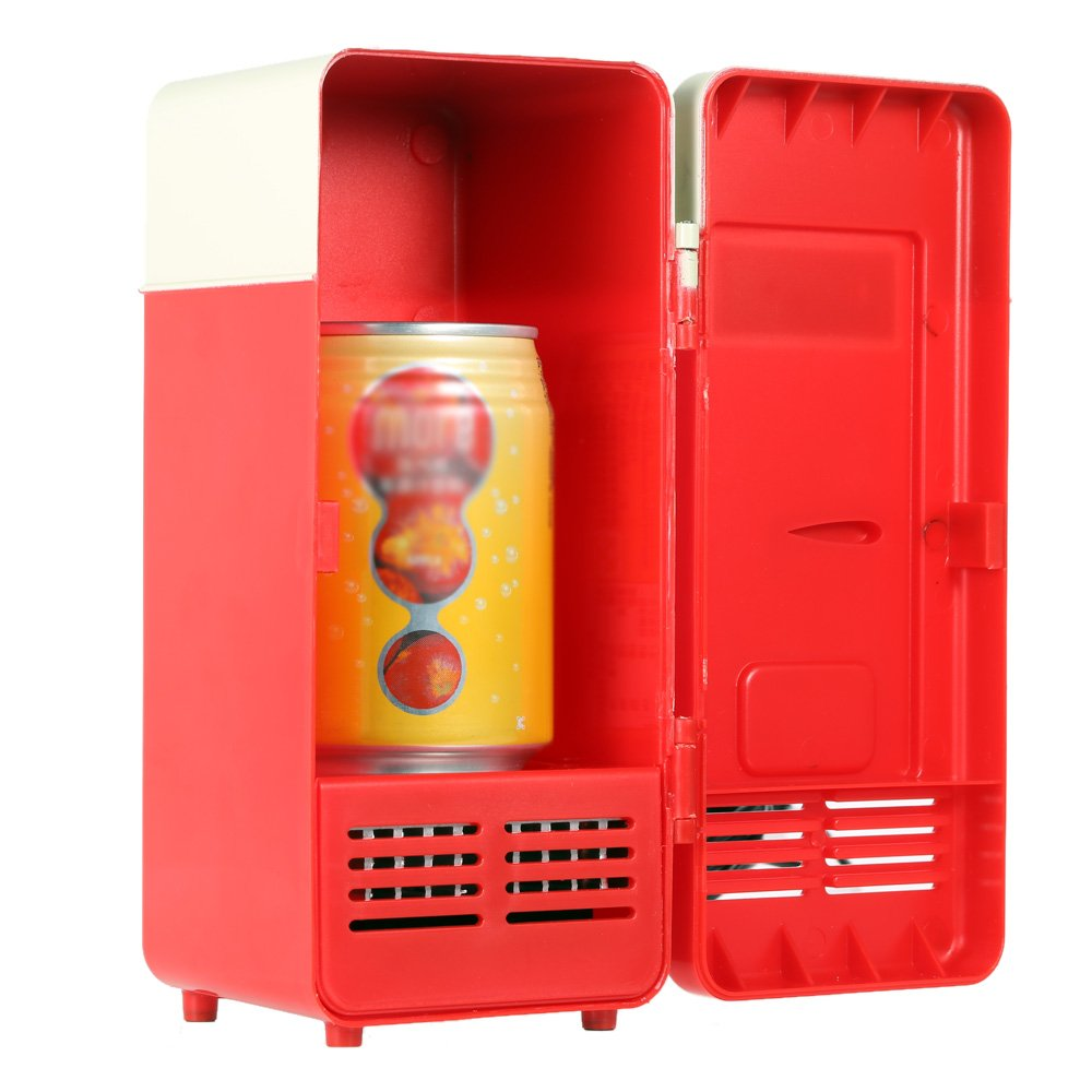 Mini Fridge, Portable USB Cooler and Warmer Dual-Purpose Refrigerator Small Fresh Keeping Cabinet for Office Outdoor by TRIEtree (red) by TRIEtree (Image #6)