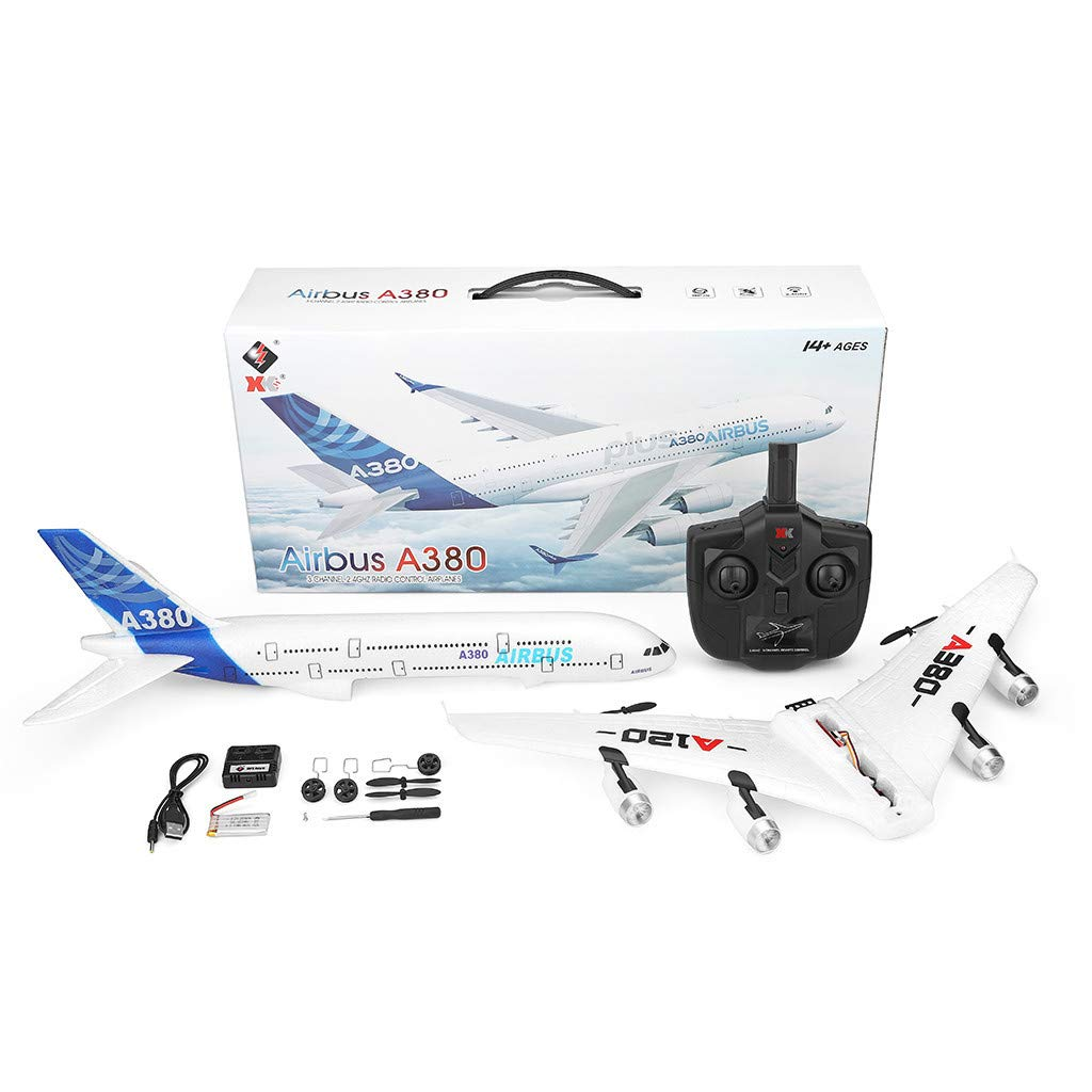 Steady Flight Wotryit WLTOYS A120-A380 2.4GHz 510mm Wingspan 3CH RC Airplane Fixed Wing RTF,Easy to Control Suit for Beginner.