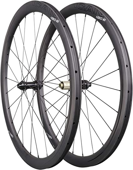 55mm Clincher carbon wheelset Tubeless matt Novatec rim 700C Road bicycle race