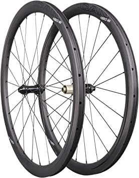 ICAN Carbon Wheels Aero 40 - Juego de Ruedas para Bicicleta de ...