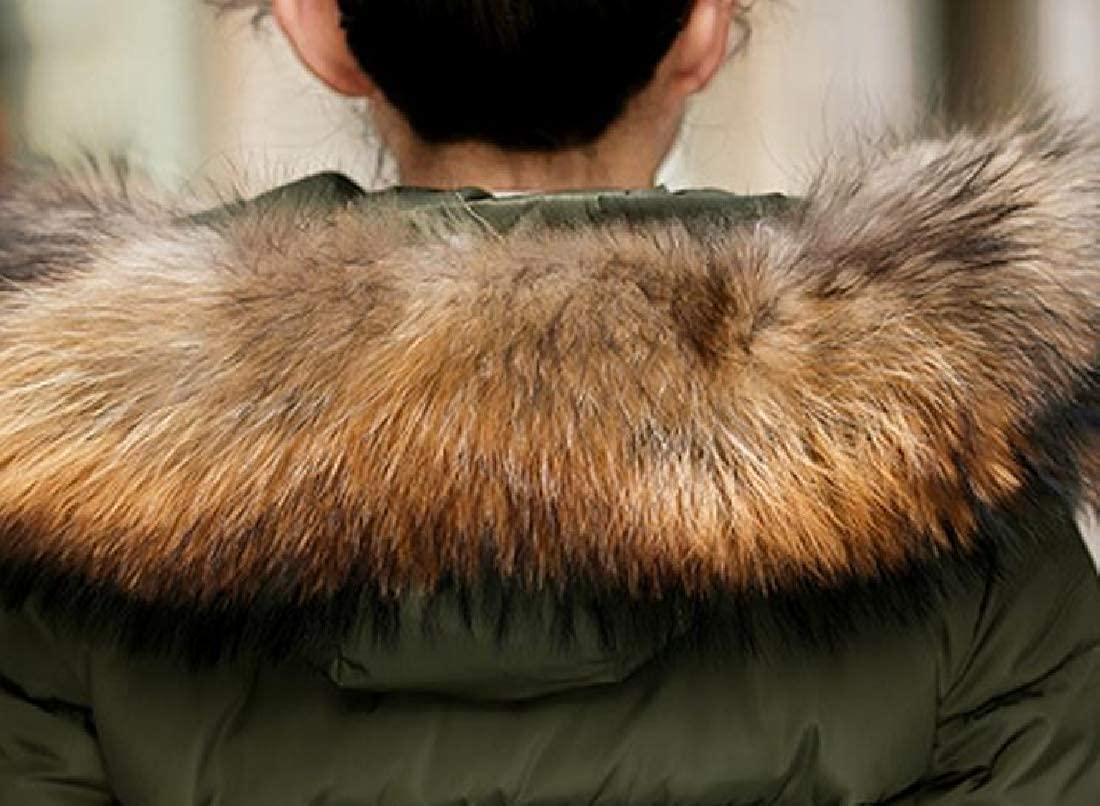YUNY Womens Hood Faux-Fur Trim Topcoat Classic Simple Padded Outwear Green 3XL