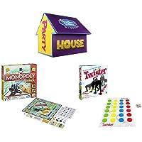 Hasbro 孩之宝 Gaming 游戏派对屋(内含小派对地产大亨+扭扭乐各1套)-亚马逊特别定制商品