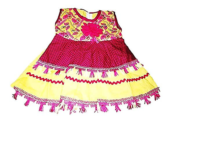 ef4a9fbcec10 TOUCH UP FASHION Baby-Girl s Cotton Frock Combo (Magenta
