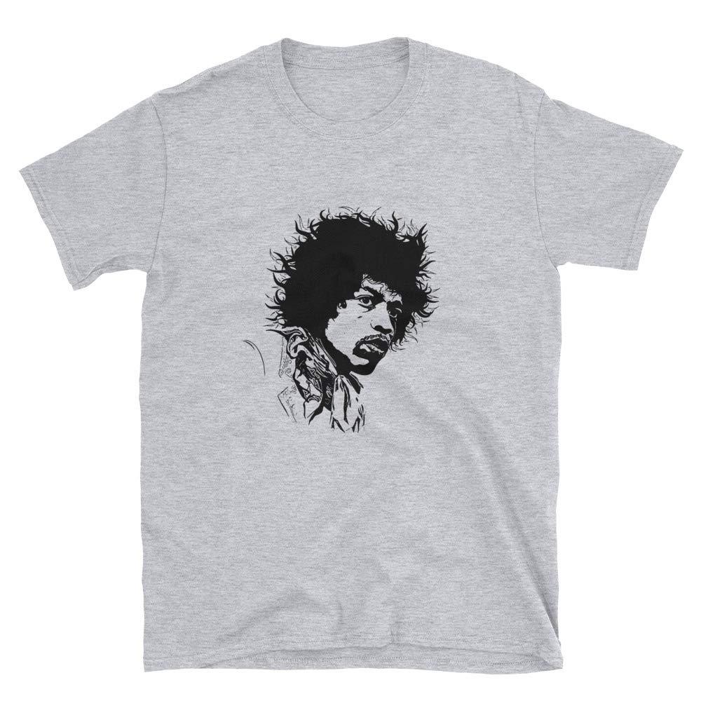 Babes Gents Jimi Hendrix Grey Tee Unisex Shirts