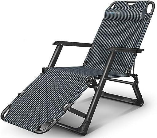Sillas plegables de tela Reclinable plegable balancín, cojín reclinable - terraza del jardín portátil, cama tapizada acolchado, asiento de la silla reclinable for interiores y exteriores de viaje de v: Amazon.es: Hogar