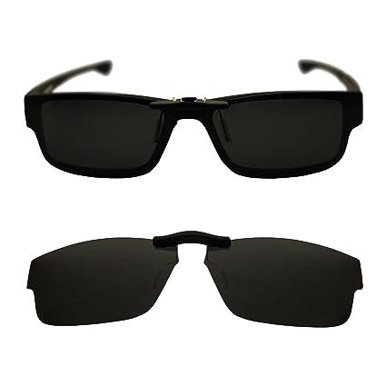 51599380304df Custom Polarized Clip On Sunglasses for Oakley Oakley Airdrop 57 OX8046  57-18-143 (Black) - - Amazon.com