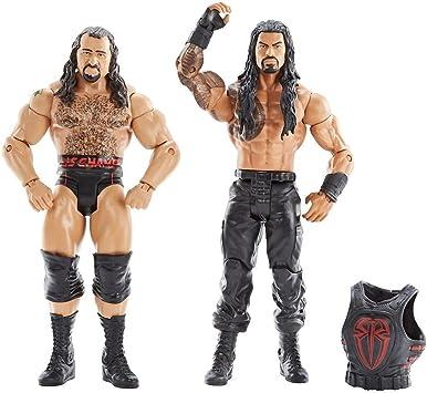 Roman Reigns & Rusev: WWE x Battle Pack Figura de acción Series #47 + 1 Oficial WWE Trading Card Bundle (DXG39): Amazon.es: Juguetes y juegos