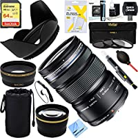 Olympus M.ZUIKO DIGITAL ED 12-50mm F3.5-6.3 EZ Lens (Black) + 64GB Ultimate Filter Bundle