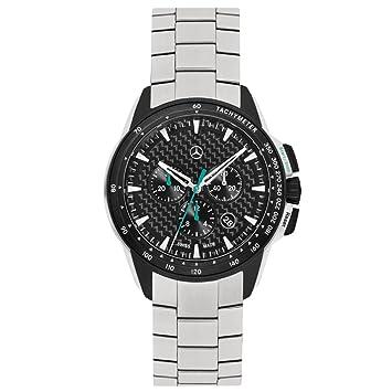 Reloj de pulsera Mercedes Benz original, para hombre, cronógrafo Motorsport, color plateado/negro/verde Petronas