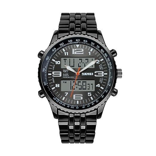 SKMEI Herren Analog Digitale Armbanduhr Doppelzeitanzeige Uhr Wasserdichte Quarz Sports Armbanduhr