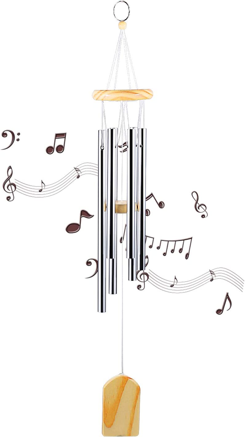 Wind Chimes Outdoor/Memorial Wind Chimes, for Garden, Patio, Yard, Home. Quality Gift. (24.4 inch)