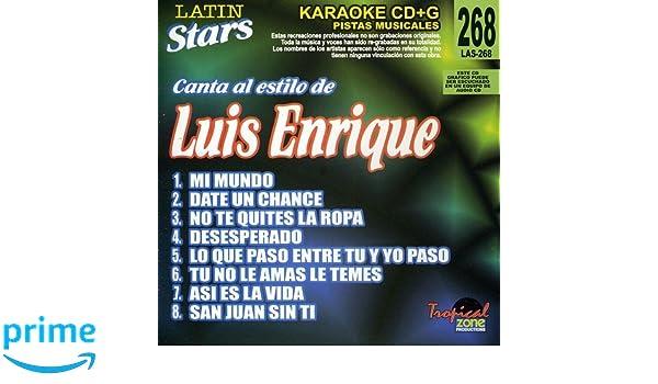 Luis Enrique - Karaoke: Luis Enrique - Latin Stars Karaoke - Amazon.com Music