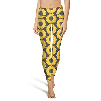 Amazon.com: black ink tigers yellow sunflowers floral womens ...