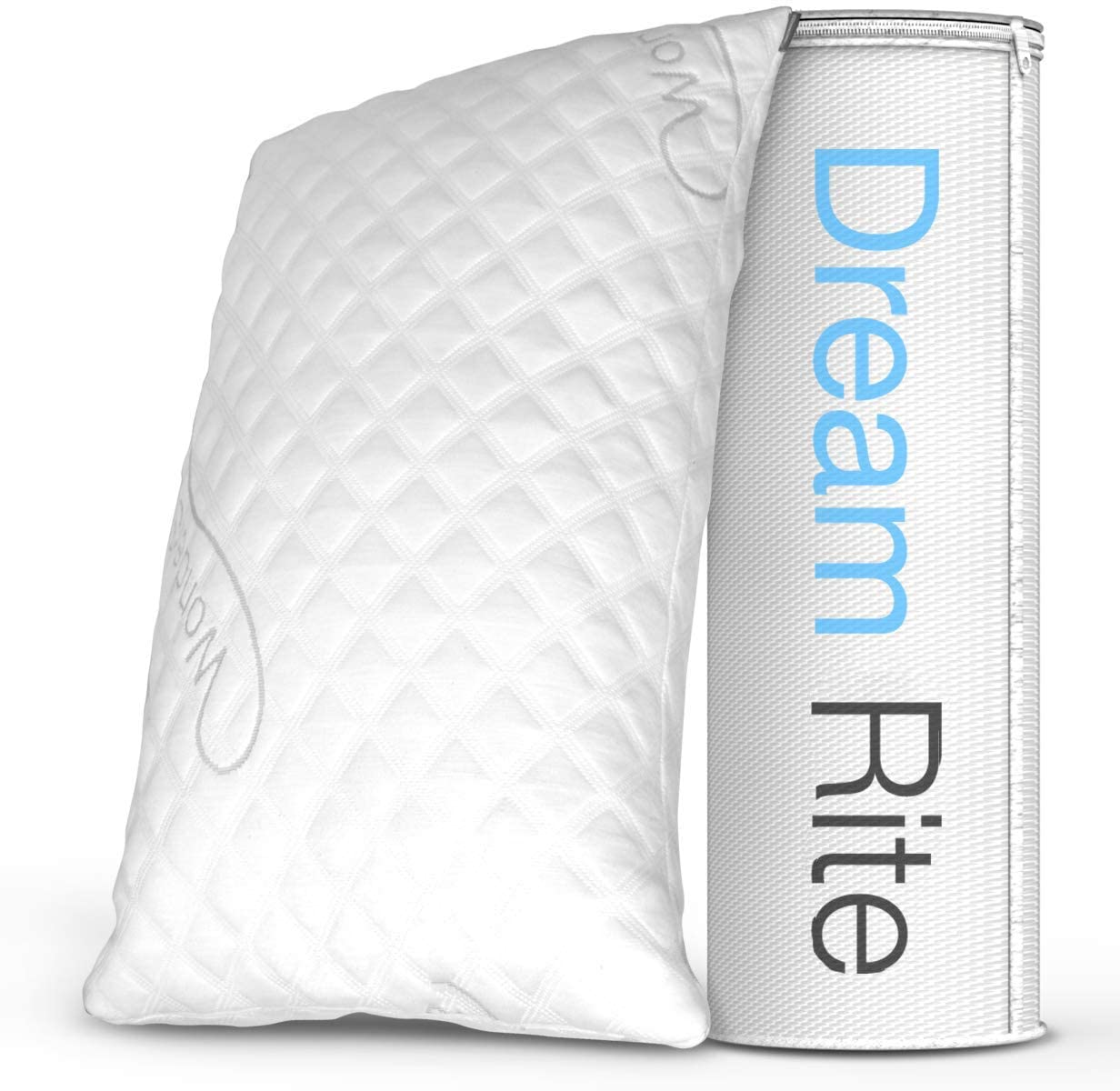 WonderSleep Dream Rite Shredded Hypoallergenic Memory Foam Pillow Series Luxury Adjustable Loft Home Pillow Hotel Collection Grade Washable Removable Cooling Bamboo Derived Rayon Cover- Queen 1 Pack: Home & Kitchen