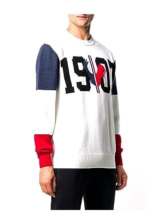 Rossignol Maglia Uomo 55767 RLHMO23 1907 Knit 100 White fw18  Amazon.co.uk   Clothing f16088918