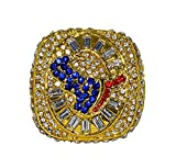 HOUSTON TEXANS (Greater City of Love) 2014 FUTURE WORLD CHAMPIONS Rare & Collectible Replica National Football League Gold NFL Championship Ring with Cherrywood Display Box