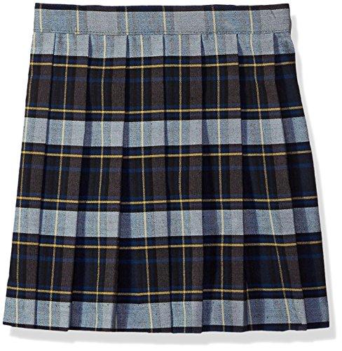 UPC 884503245133, French Toast Big Girls' Plaid Pleated Skirt, Blue/Gold, 14