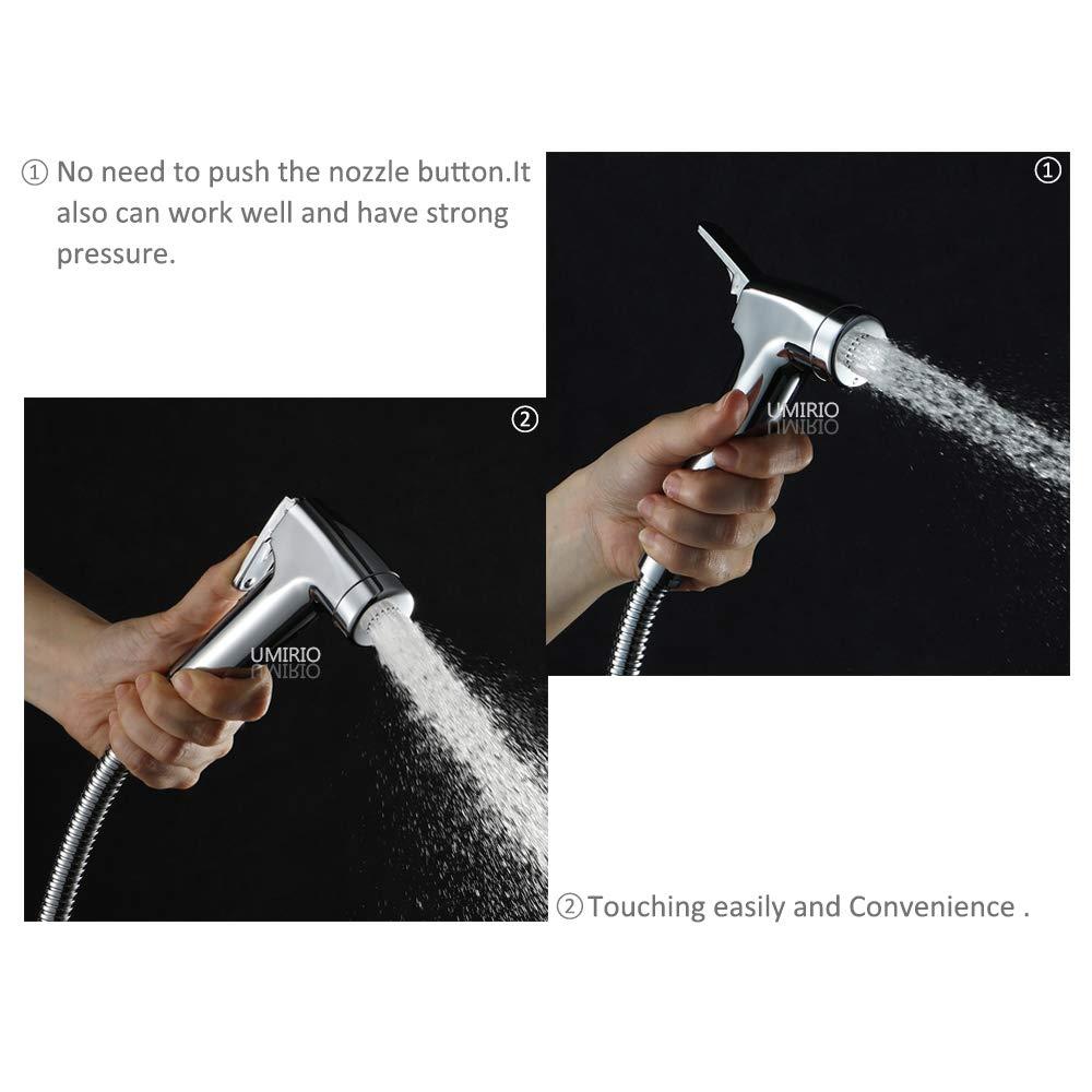 Shower Hose Stainless Steel 118-inch Shower Hose Extra Long Universal Handheld Showerhead Hose Shower Cord Replacement Bathroom Toilet Sprayer Hose Chrome,UMIRIO