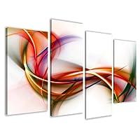 Quadro su tela abstract 130 x 80 cm 4 tele modello nr XXL 6159. I quadri sono montati su telai di vero legno. Stampa artistica intelaiata e pronta da appendere