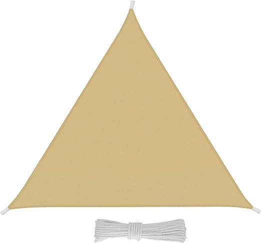 EGLEMTEK Tenda da Sole Triangolare da Esterno Resistente e Anti-Strappo Protezione dai Raggi UV Tessuto in Polietilene, 3 x 3 x 3 m, Amaranto