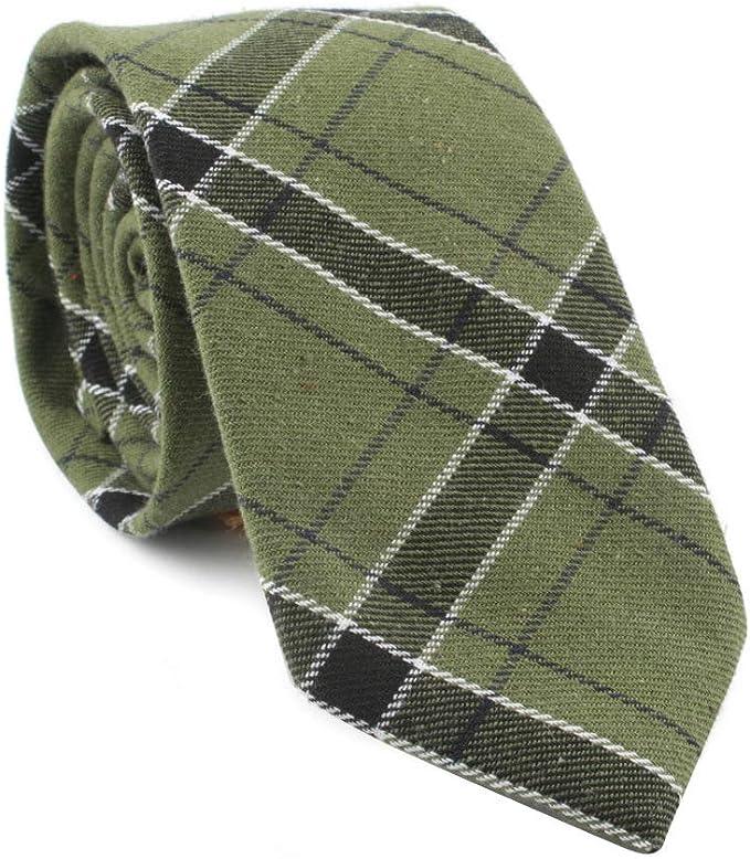 TieSilbA Corbatas para hombre Cuadros de corbata de hombre de 7 cm ...