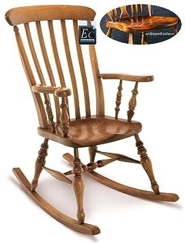 6286c131f Maciza de fresno Farmhouse mecedora: fabricado en Inglaterra: Una  extraordinaria, Inglés silla fabricado en madera de ...