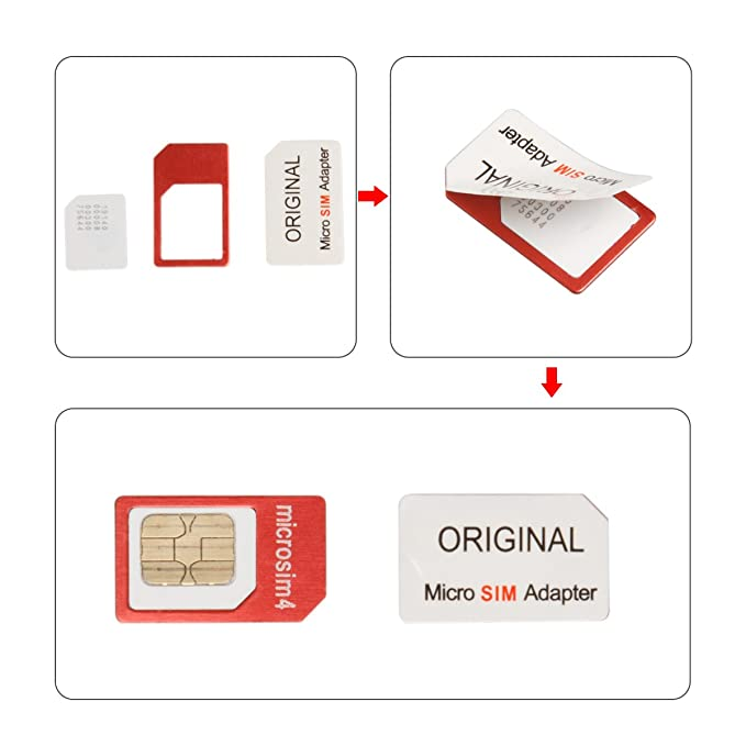 Amazon.com: lention 5-in-1 tarjeta nano sim a Micro/Standard ...