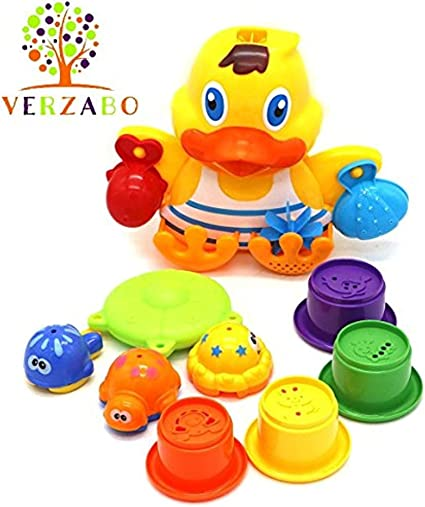 VERZABO SEASIDE DUCKLING bath toy set for 12 months plus babies