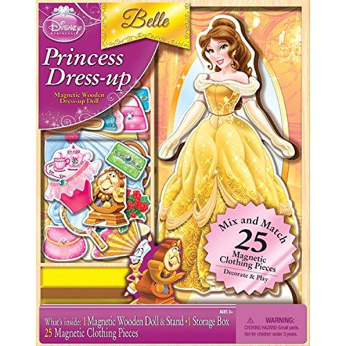 Bendon Disney Princess Belle 25-Piece Wooden Magnetic Doll Dress-Up Kit (AS02066)]()