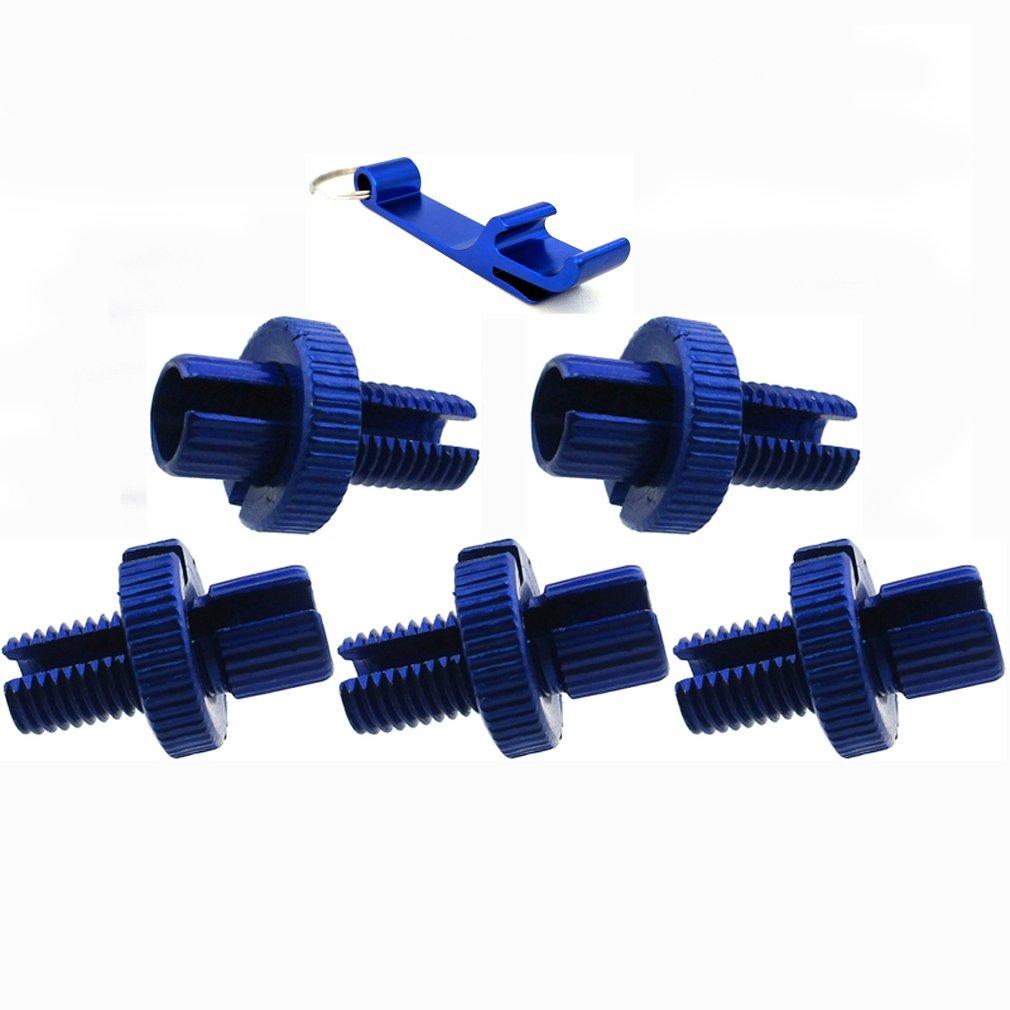 TC-Motor Blue 10mm Clutch Brake Throttle Cable Adjuster For Motorcycle ATV Pit Dirt Motor Bike Quad Motocross 1