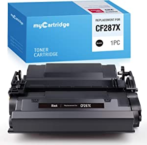 MYCARTRIDGE Compatible Toner Cartridge Replacement for HP 87X CF287X High Yield 87A CF287A Work with Laserjet Enterprise MFP M527f M527dn M506x M506dn M506n M501dn m527z 1 Black