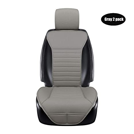 77187e56b9d43 DINKANUR Breathable PU Leather Auto Universal Car Seat Covers Car Interior  Driver and Passenger Seat Cover Car Seat Cushions for Cars (2 PCS) (gray-B)