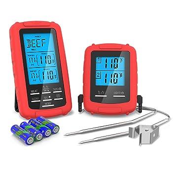 Thermomètre De Cuisson Thzy Bbq Thermomètre Double Sondes Cuisson à