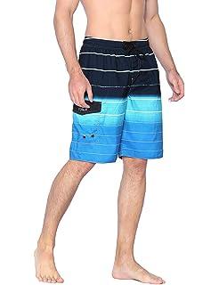 009ac63922 Nonwe Men's Beachwear Summer Holiday Swim Trunks Quick Dry Striped