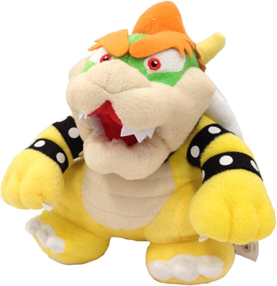 Yijinbo Super Mario Bros King Bowser Koopa Kooper Boss - Peluche de Peluche, 22,8 cm