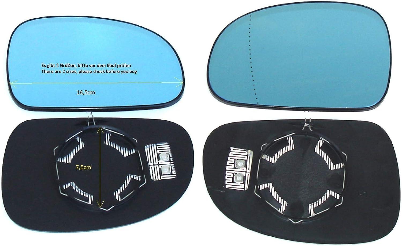 Pro Carpentis Espejo Izquierdo Derecho 2er Conjunto Azul Tintado Calentado Cristal Repuesto para El/éctrico Y Manual Retrovisor Exterior