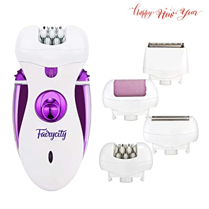 Depiladora Facial Mujer Afeitadora Electrica Depilación Femenina  Recortadora Bikini Fairycity 4 en 1 Máquina de Afeitar ccc48c29247c