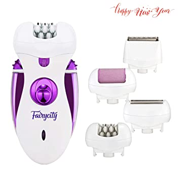 Home Appliances Rechargeable 4 In 1 Electric Callus Remover Epilator Tweezer Hair Removal Shaver Electric Lady Rechargeable Quick Eu Plug Light Personal Care Appliances