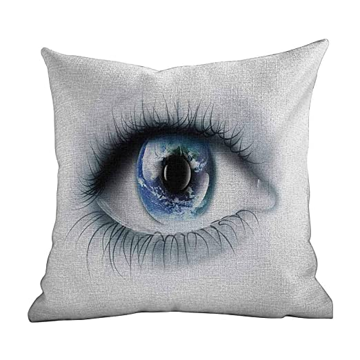 Funda de Almohada Personalizada Eye, Planet Earth Reflejado ...