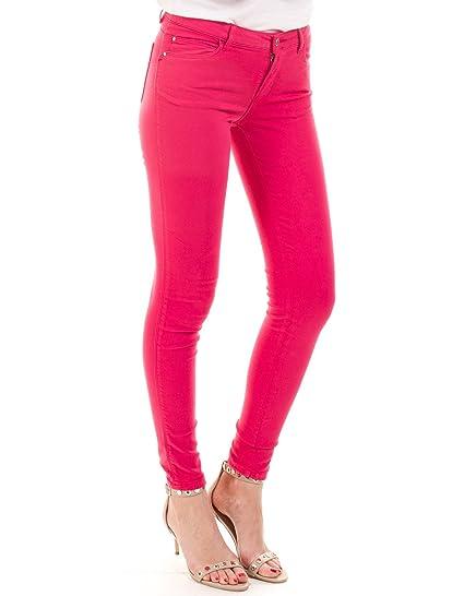 Guess pantalones fucsia Curve x (29 - Rosa): Amazon.es: Ropa ...